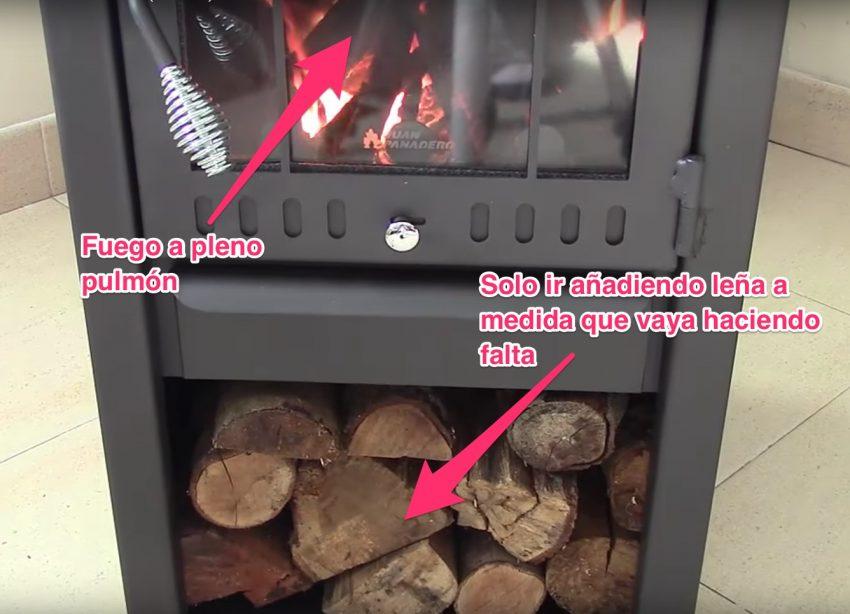 como encender una estufa a leña